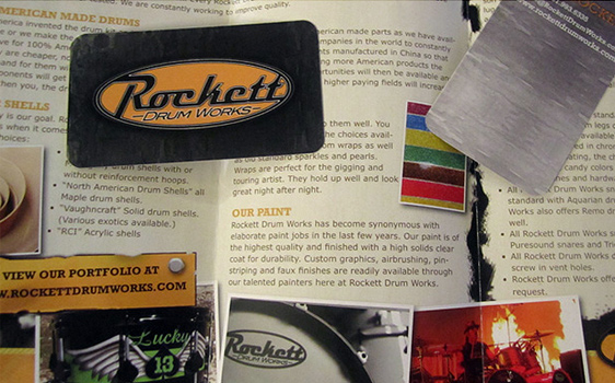 Rockett Drum Works - Graphic Design Samples