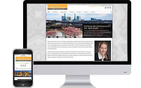 Katerina Real Estate - Web Design Client