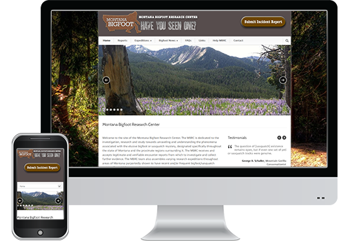 Montana Bigfoot - Website Design Client