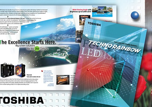 Toshiba - Graphic Design Client