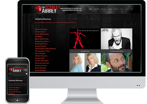 Scarlet Abbey - Web Design Client