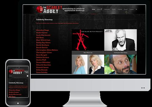 Scarlet Abbey - Web Design Client